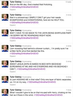 TYLER OAKLEY YO ARE THE MOST PERFECT THING JUST GAH YOU'RE PERFECT. ❤
