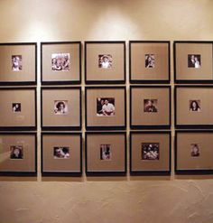 Neat alternative to the traditional white mat - corrugated cardboard! Corrugated Plastic Sheets, Corrugated Fiberboard, Corrugated Cardboard Boxes, Hanging Picture Frames, Hanging Pictures, Corrugated Packaging, Wedding Gifts For Guests, Framing Photography, Guest Gifts
