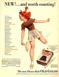 cigarette Old Gold advertising Advertising Ads, Vintage Advertisements, Retro Ads, Vintage Cigarette Ads, Pub Vintage, Pin Up Posters, Travel Posters, Pin Up Outfits, Vintage Classics