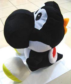 Super Mario Bros Black Yoshi Plush Doll MLDL1581 b092a2405f54