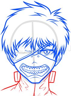 how to draw kaneki ken from tokyo ghoul step 6