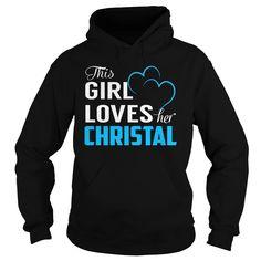 This Girl Loves Her CHRISTAL - Last Name, Surname T-Shirt