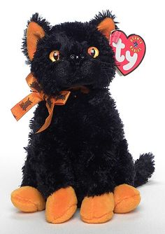 Fraidy the Cat: beanie baby of the day!