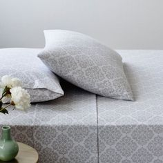 Mercer + Reid Damask Flannelette Sheet Set - Bedroom Cotton Flannelette - Adairs online