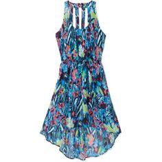 No Boundaries Juniors Hi-Low Chiffon Dress