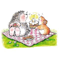 Penny Black Slapstick Stamp, Hedgehog Birthday