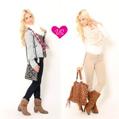 #stylesforless ...Which cozy #outfit would you wear on a cold spring day? left