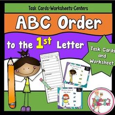 ABC Order to the 1st Letter has task cards and worksheets to help practice this skill. $
