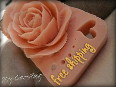Carving soap rose, hand carved pink soap, carving soap heart, unique carving soap gift, carving soap flower, wedding gift, FREE SHIPPING