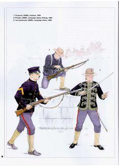 USA; USMC, China 1900 World War One, First World, Boxers, Uniform Insignia, Boxer Rebellion, Us Marines, Military History, Usmc, Us Army