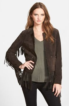 BLANKNYC Suede Fringe Jacket available at #Nordstrom