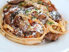 Mushroom Bolognese with Fettuccini recipe