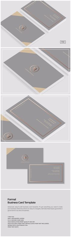 Formal Business Card Template Templates Introducing our Formal business card template, perfect for use in your next project or for your own by The Design Label Business Stationary, Cool Business Cards, Professional Business Cards, Business Branding, Business Card Logo, Business Card Design, Creative Business, Corporate Design, Branding Design