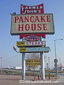 Farmer Johns Pancake House  Golden State Highway  Bakersfield. CA