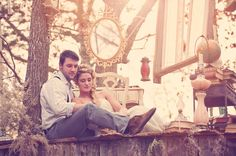 Most unique idea!! Making a fairytale story out of engagement or wedding pictures.. This cute couple did the story of Rapunzel in a series of pictures! How neat!