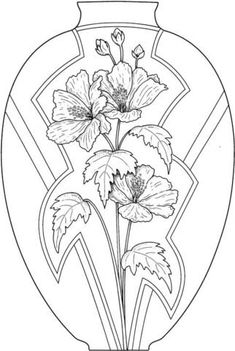 3 Unbelievable Cool Ideas: Rustic Vases Initials geometric v Flower Coloring Pages, Coloring Book Pages, Printable Coloring Pages, Coloring Sheets, Black Vase, Green Vase, Silhouette Design, Wall Art Crafts, Pottery Store