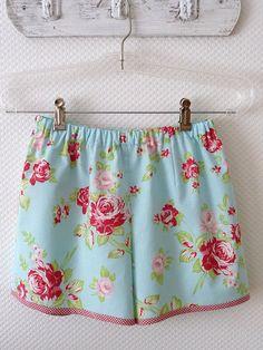 Summer Shorts Size Small China Rose blue Sleep by PeriDotbyDuni, $38.00