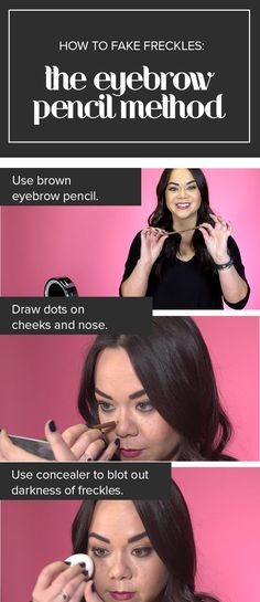 Try this DIY fake freckles tutorial with step-by-step instructions. It will show you how to make your own fake freckles using an eyebrow pencil. The post Love your freckles! This new beauty trend is all about rocking spots appeared first on Suggestions. How To Get Freckles, Fake Freckles, Freckles Makeup, Kylie Jenner Eyebrows, Makeup Designs, Makeup Ideas, Makeup Tips, Romantic Makeup, Everyday Make Up