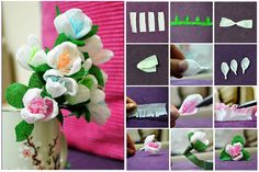 DIY Crepe Paper Flowers   DIY Tag