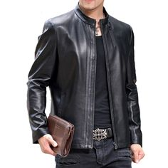 2016 Men Jackets Coats Giacca Pelle Uomo Jaqueta De Couro Masculina Men's Casual Fashion Slim Fit Motorcycle Leather Jackets Men Tag a friend who would love this! FREE Shipping Worldwide Get it here ---> http://onlineshopping.fashiongarments.biz/products/2016-men-jackets-coats-giacca-pelle-uomo-jaqueta-de-couro-masculina-mens-casual-fashion-slim-fit-motorcycle-leather-jackets-men/