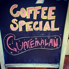Today's special at our favorite coffee shop, Village Wine & Coffee in Shelburne, VT