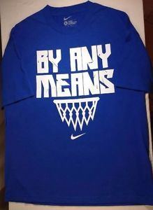 Nike-T-Shirt-XL-Mens-SS-Loose-Fit-By-Any-Means-Basketball-Graphic-Cotton-Blu-NWT