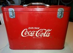 Vintage 1950's Authentic Coca Cola Embossed Airline Cooler Coke Advertising Sign | eBay