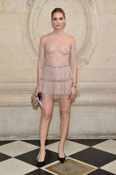 Chiara Ferragni attends the Christian Dior show as part of the Paris Fashion Week Womenswear Fall/Winter 2017/2018 at Musee Rodin on March 3, 2017 in Paris, France.