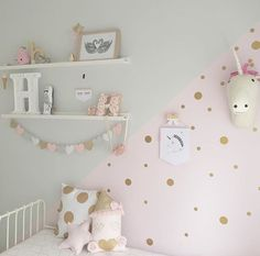 gold dot stickers gold polka dot decals spot decal home decor vinyl wall stickers gold dot decals gold dots gold gold decals decals add a gold glitter dot stickers Baby Bedroom, Girls Bedroom, Bedroom Decor, Girl Toddler Bedroom, Lego Bedroom, Childs Bedroom, Child Room, Nursery Room, Girl Nursery