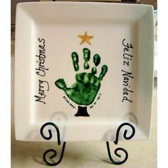handprint plate for g'parents