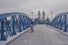 Pont cyclable à Fribourg - Allemagne