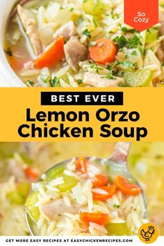 Lemon Orzo, Chicken Soup Recipes, Soups And Stews, Breakfast Recipes, Easy Meals, Dinner, Cooking, Ethnic Recipes, Potato Salad