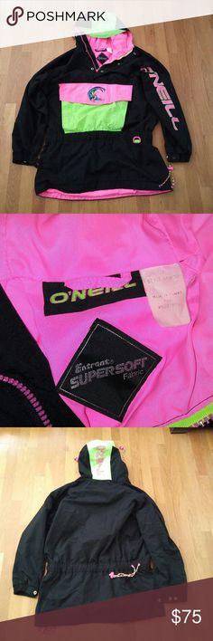 Selling this Vintage 80s o'neil surf snowboard neon jacket on Poshmark! My username is: dannydanny1. #shopmycloset #poshmark #fashion #shopping #style #forsale #oneil #Other
