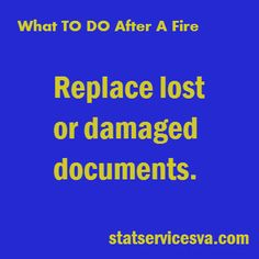 What to do after a fire! #fire #housefire #statservices