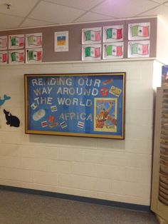 Reading Our Way Around The World at Naramake Elementary School Library