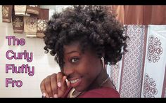 How to do a Curly Fluffy Fro on Natural 4C Hair