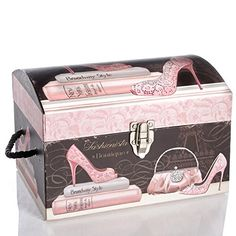 Fashionista Dome Box - Small Storage Boxes, Storage Chest, Trunks And Chests, Small Boxes, Toy Chest, Coastal, Kids Room, Decorative Boxes, Pink