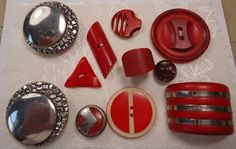 Perfect selection of Vintage Art Deco buttons.
