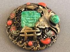 Czech Neiger Brooch - Oriental Style