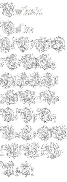 illuminated alphabet templates - vgosn vintage ornate frame border clip art image