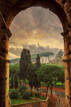 ~~Spring Glory | spring glow after an afternoon rain at the Coliseum, Appian Way, Rome, Italy | by Richard Bryant~~