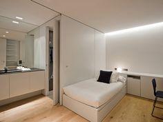 I like the simplicity. Closet Bedroom, Teen Bedroom, Home Bedroom, Bedroom Ideas, Room Ideias, Small Studio Apartments, Compact Living, Interior Design Studio, House