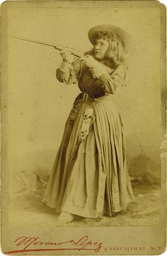 awesome cowgirl & her gun