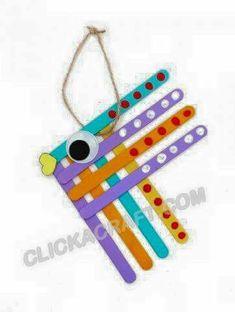 Popsicle Stick Crafts, Popsicle Sticks, Craft Stick Crafts, Resin Crafts, Craft Ideas, Ocean Crafts, Fish Crafts, Diy For Kids, Crafts For Kids