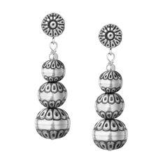 Carolyn Pollack Jewelry | Santa Fe Native Pearl Graduated Drop Earrings