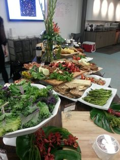 Catering set up in progress at the Ciniva Web Agency ribbon cutting event April 2013