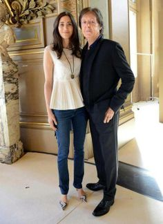 Earlier this week Paul visited Paris for daughter Stella's Spring / Summer 2013 show at the city's Fashion Week. Photo courtesy of Stella McCartney Limited. Sir Paul, John Paul, Ringo Starr, Paul And Linda Mccartney, Stella Mccartney, John Lennon, The Beatles, Beatles Photos, Upcoming Animated Movies