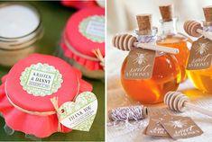Recordatorios para tu boda campestre, frascos de mermelada o miel