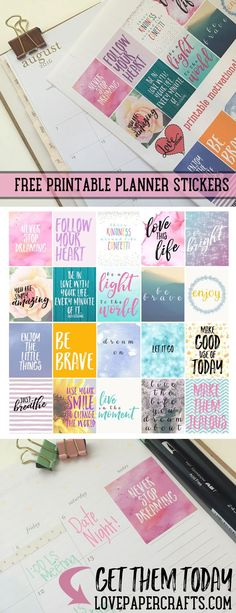 Free printable motivational planner stickers for the happy planner Planner Stickers Free, Free Planner, Printable Planner Stickers, Free Printables, 2015 Planner, Free Stickers, Calendar Printable, Printable Quotes, To Do Planner