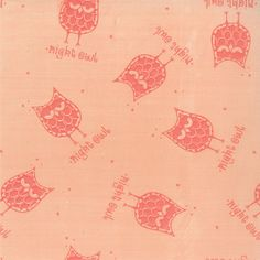 Petal Pink Owl Print from the Little Things by BsFabricShack